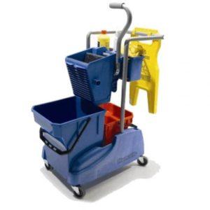Carucior pentru curatenie cu sistem aws